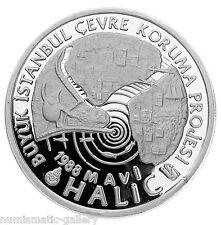 TURKEY 20,000 LIRA 1988 Silver PF ENVIRONMENTAL PROTECTION PROJECT Rare!