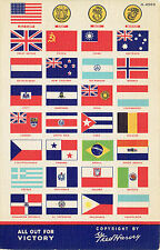 All Out For Victory Fred Harvey Flags Military Insignia Uniforms~US & UN Forces