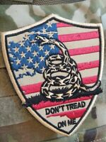 Don't Tread On Me FDE VELCRO® BRAND FASTENER PATCH