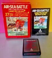 Air Sea Battle - Atari 2600 - Cartridge Box Manual Tested Complete