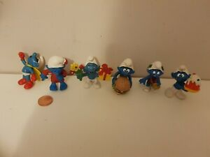 Smurf Figures x6, PVC, See Others & Combine Postage, Smurfs, 2.5 inches
