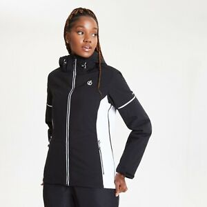 Dare2b Womens ENCLAVE BLACK/WHITE Ski Jacket Ladies 22-28 UK PLUS SIZE