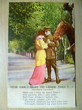 WW1 Military Bamforth Song Postcard: How Can I Bear To Leave Thee? (1)