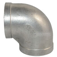 "304 Stainless Steel 2""  Elbow 90 degree angled Pipe Fitting Female threaded"
