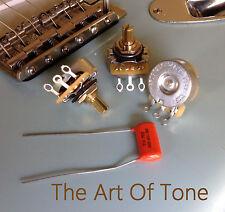 CTS 250K Pots Split Shaft Dishback Audio - 10% - 3X + .022uf Orange Drop - 450G