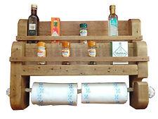 wooden spice rack kitchen towel holder herb rack spice jar pine shelf rustic new