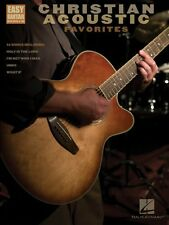 Christian Acoustic Favorites Sheet Music Easy Guitar with Notes & Tab  000702237
