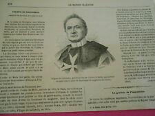 Gravure 1863 - Filipo de Colloredo grand maitre de l'ordre de Malte