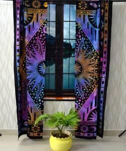 Burning Sun Wall Hanging Door Window Curtain Tapestry Drape Valance Indian Art