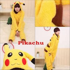 Pikachu Flannel Sleepwear Unisex Adult Kigurumi Pajama Animal Cosplay Costume L