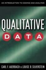 Qualitative Data: An Introduction to Coding and Analysis (Qualitative Studies i