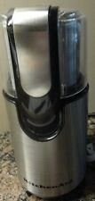 KITCHEN AID STAINLES STEEL COFFEE GRINDER 160 W MOTOR MOD # BCG111OB