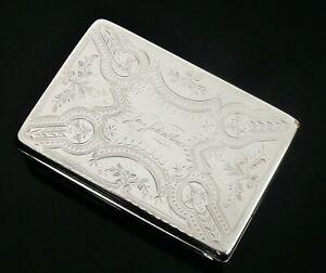 American Antique Silver Snuff Box, Gorham Hallmarked 1871