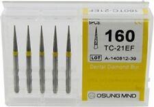 Dental Diamond Burs,Taper Conical Shape,xtra Fine Multi-Use 5 Pcs/Pk [1560-TCEF]