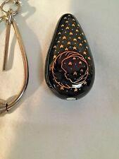 Vintage/new Ceramic Niki  Pipe Smoking Stone Key Chain Tobacco Sun Moon Stars