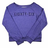 Victoria's Secret LOVE PINK Knit Long Sleeve Shirt Purple Size Medium