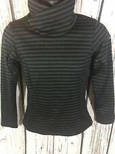 Women's XS Columbia Pullover Sweater Black Striped