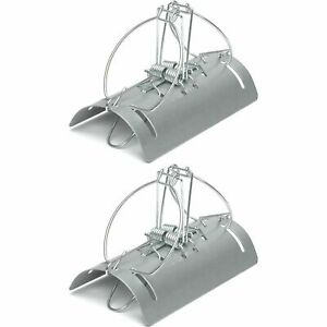 2 x Racan Tunnel Mole Trap Fast Action Humane Kill Double Entry Professional Use