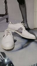 """WOMEN WHITE SHOES/BOOTS/SNEAKERS """"SLVR ADIDAS"""" REAL LEATHER EU 41.5 UK 7 1/2"""