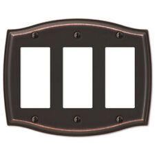 Switch Plate Outlet Cover Rocker Toggle Light Wall Plate - Oil Rubbed Bronze