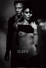 The Girl With The Dragon Tattoo movie poster (a) Daniel Craig, Rooney Mara