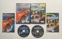 Playstation 2 Need For Speed Underground 1 & 2 COMPLETE BLACK LABEL!! PS2