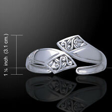 Celtic Knotwork .925 Sterling Silver Cuff Bracelet by Peter Stone