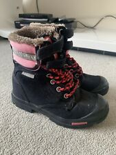 SUPERDRY WOMENS BLACK FAUX FUR LINED  WINTER BOOTS SIZE 4 IN GREAT CONDITION