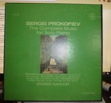 PROKOFIEV Complete Music for Solo Piano Vol. 2, GYORGY SANDOR 3LP, NM/EX VOX BOX