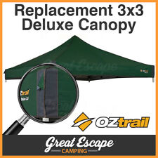 OZtrail Gazebo Deluxe Replacement Canopy 3x3m Green Shade Tent Marquee Outdoor