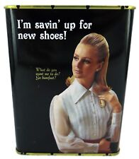 Blue Q - I'm Savin' Up For New Shoes!  Tin Bank Money Box Gift