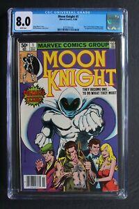 MOON KNIGHT #1 ORIGIN 1st SOLO & BUSHMAN 1980 Sienkiewicz Disney MCU TV CGC 8.0