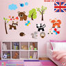 Forest Animals Wall Stickers Kids Room Children Woodland Jungle Nursery Decal