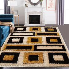 Large Shaggy Floor Rug Modern Area Rugs Bedroom Living Room Home Floor Carpet
