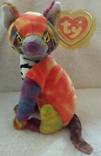 TY BEANIE KALEIDOSCOPE ~ MULTI COLORED CAT ~ JUNE 24, 2000 ~ NEW