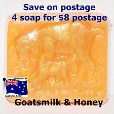 HANDMADE NATURAL TRANSPARENT SOAP * Goatsmilk & Honey 100 Grams 4 for $8 Postage