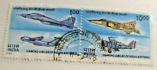 INDIA #1421a Θ used, India Air Force postage stamps, + 102 card