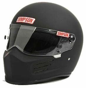 Simpson Bandit Helmet Snell Sa2020 Matt Black Colour 8859 Terminal Msa M6 Fia
