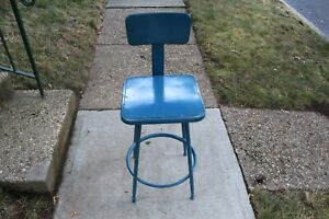 Vintage Industrial Metal Machine Shop Chair Stool #4 Royal Metal Corporation USA