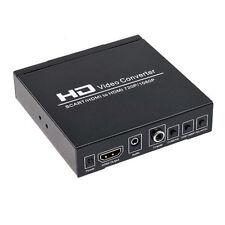 Adaptateur Convertisseur Péritel SCART + HDMI vers HDMI HD 1080p