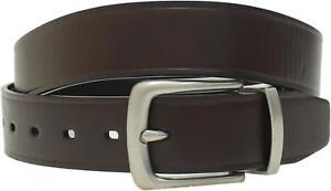 merona Mens Reversible Bonded Leather Border Crease Dress Belt