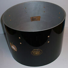 Gretsch USA Custom Drum Shell 6 Ply Mount Tom 10x14 Gloss Piano Black '80 Badge