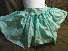 Vintage 50s Girls Childs Skirt BLOOMERS 6 Aqua Blue Spring Cotton Skort