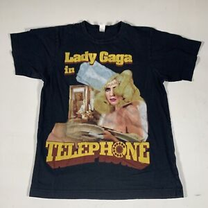 A21 Lady Gaga Monster Ball 2010 Telephone Concert T-Shirt With Dates Women Small