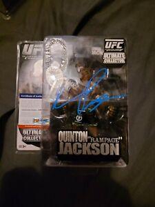 UFC Round 5 Signed Rampage Jackson Figure