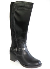 Hush Puppies Stiefel 40 KunstLEDER Boots Schwarz Anti Shock Flex Zone Schuh NEU