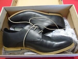 Clarks Chinley Walk Black Leather Shoes Size 7.5 G                            D1