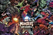 MARVEL ~ MONSTERS UNLEASHED! ~ 22x34 COMIC ART POSTER NEW/ROLLED!