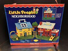 1989 Fisher Price Little People Neighborhood With Box Complete Unused Dela0165