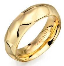 Fiorelli Costume Jewellery 6mm 1/4oz Polished Gold Geometric Plain Band Ring